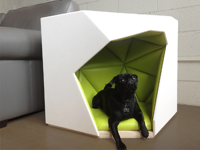 3 Geodog Dog House, Laser Lab Studio 4 mPup and designed by Seungji Mun 5  Bambu Hammock 1, Pet Lounge Studios